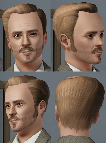My Sims 3 Blog Receding Hairline By Oepu