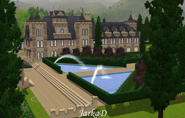 my sims 3 blog chateau with large garden by jarkad. Black Bedroom Furniture Sets. Home Design Ideas