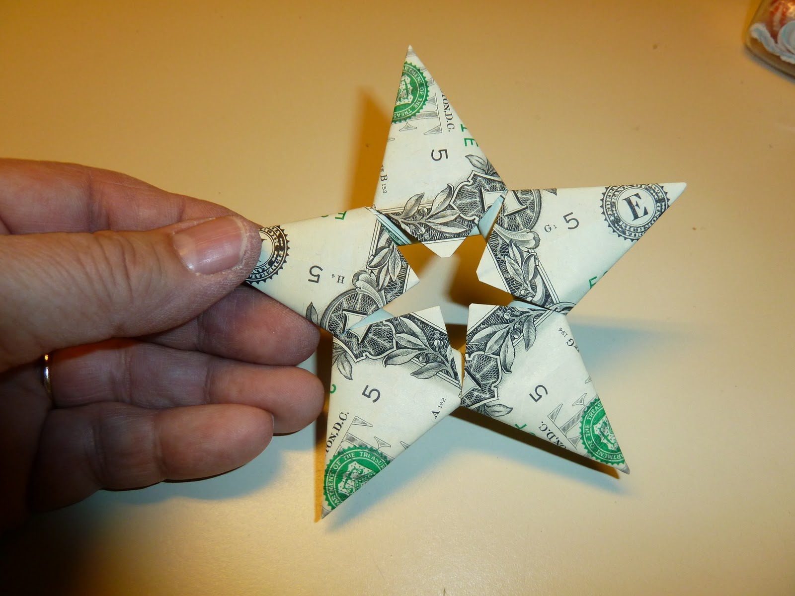Make It Easy Crafts Easy Money Folded Five Pointed