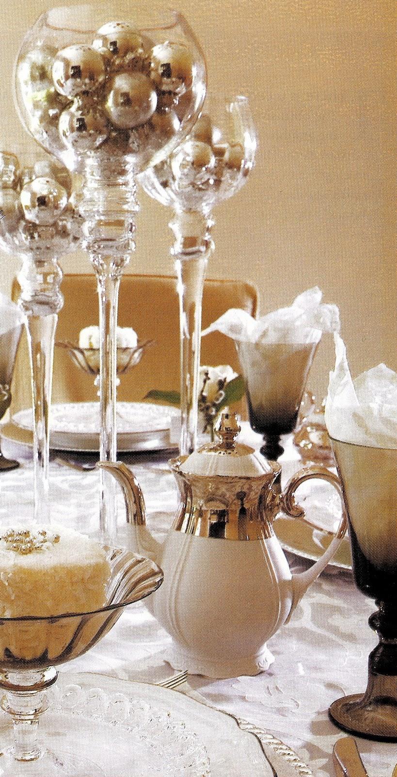 White Party Centerpieces Tables