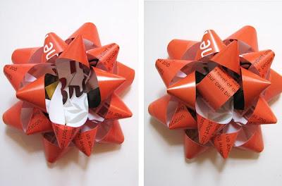 Как сделать цветок на подарочную упаковку.