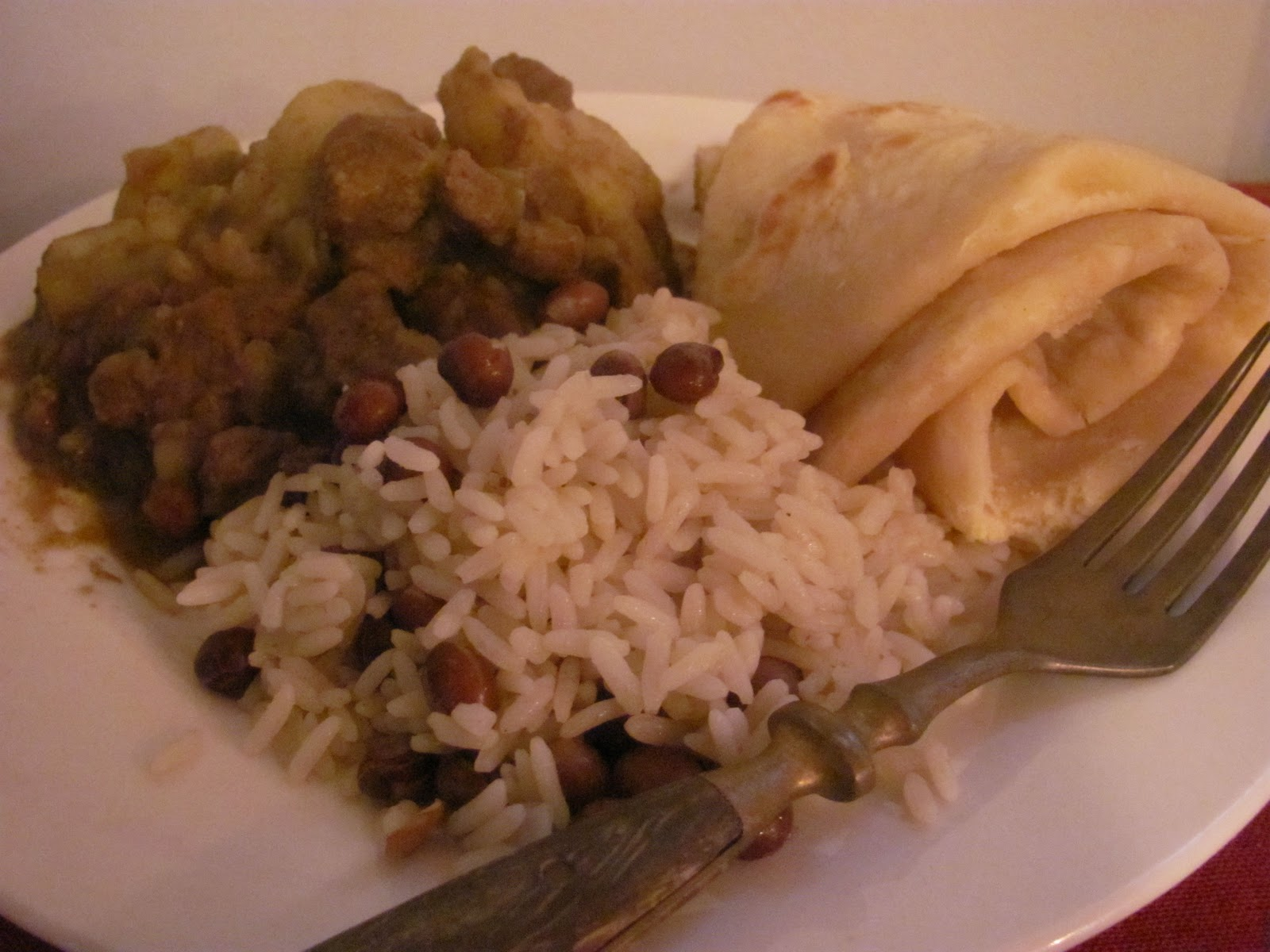 Day 69 Guyana Sa The Last Of G Countries Guyanese Beef Curry Roti And Rice With Pigeon Peas Up Next Haiti Na