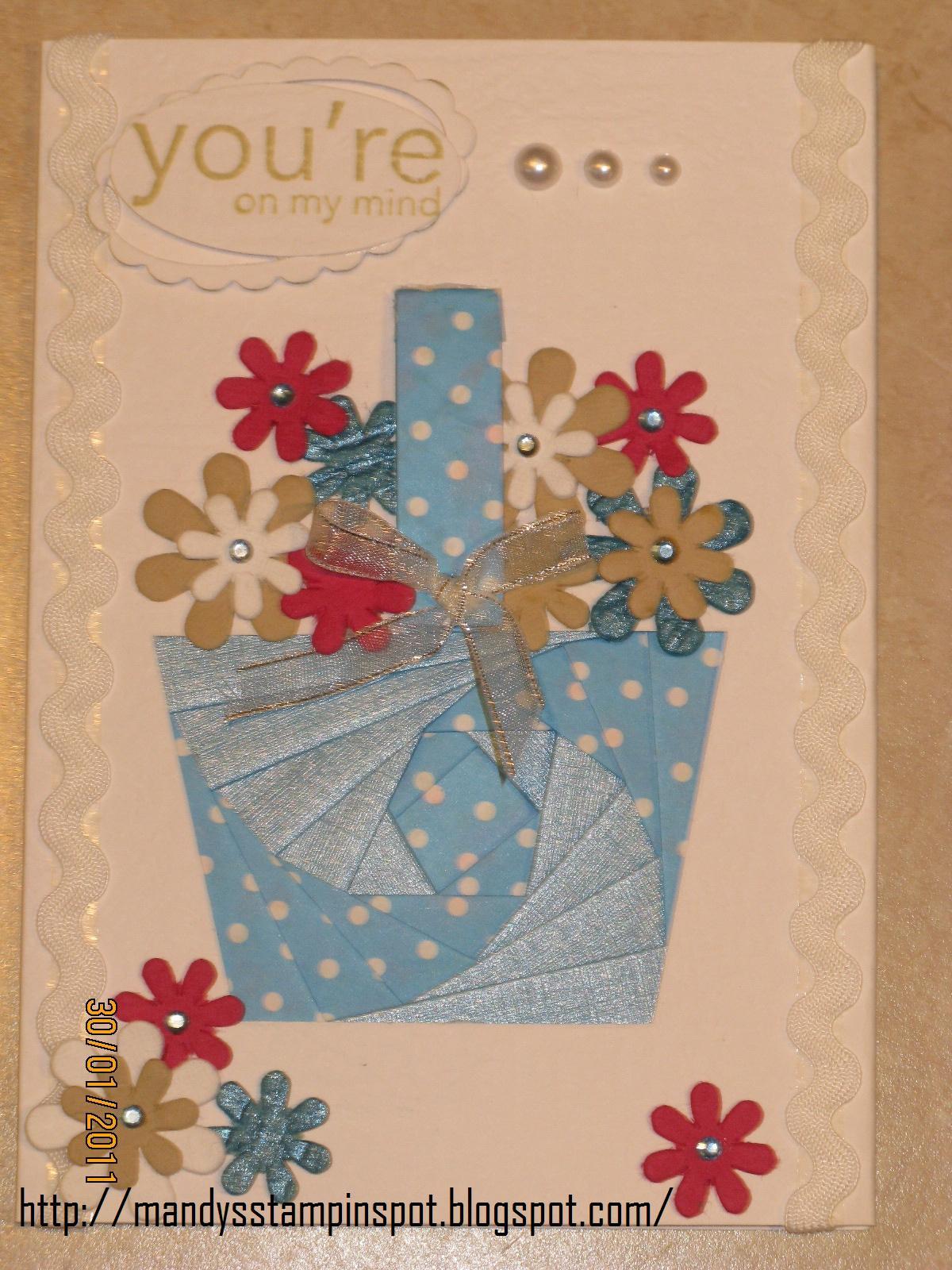 Mandy S Stampin Spot Iris Folding Flower Basket General Purpose