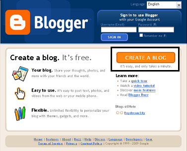 write a blog on google