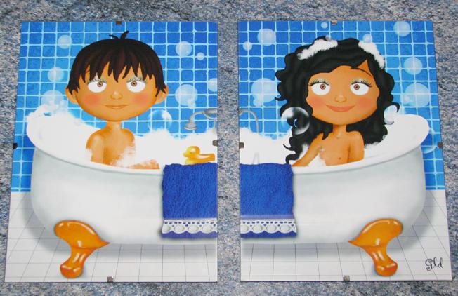 The Art of Gema Laura Díaz: Cuadros para el baño de Sonia ...