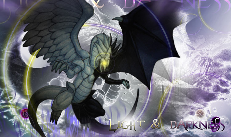 Light Dark Dragon Reign Background Wallpaper | Dragon ...