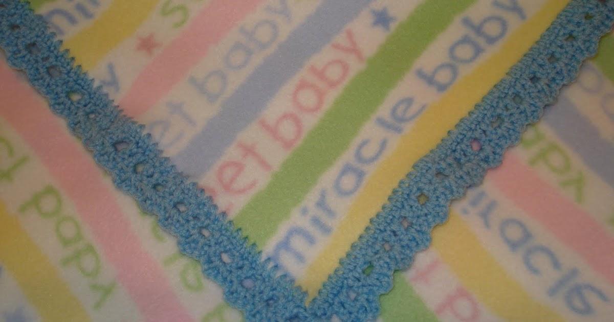 No Longer Conforming Crochet Edge Around A Fleece