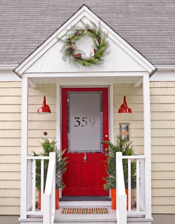 Cheery Front Door Makeover