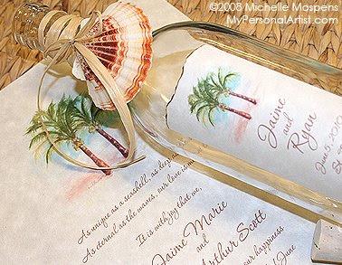 Ideas Para Invitaciones De Boda Participacion De Boda En Botella - Invitaciones-de-boda-en-botella