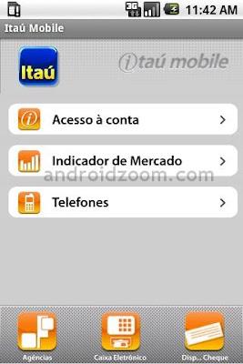 tela aplicativo itau 2010