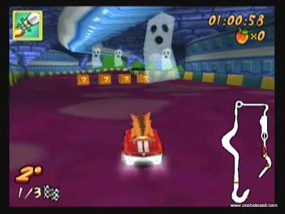 captura de tela do jogo crash nitro kart