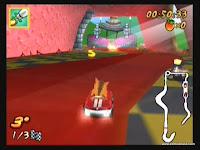 captura de tela do jogo crash nitro kart 2
