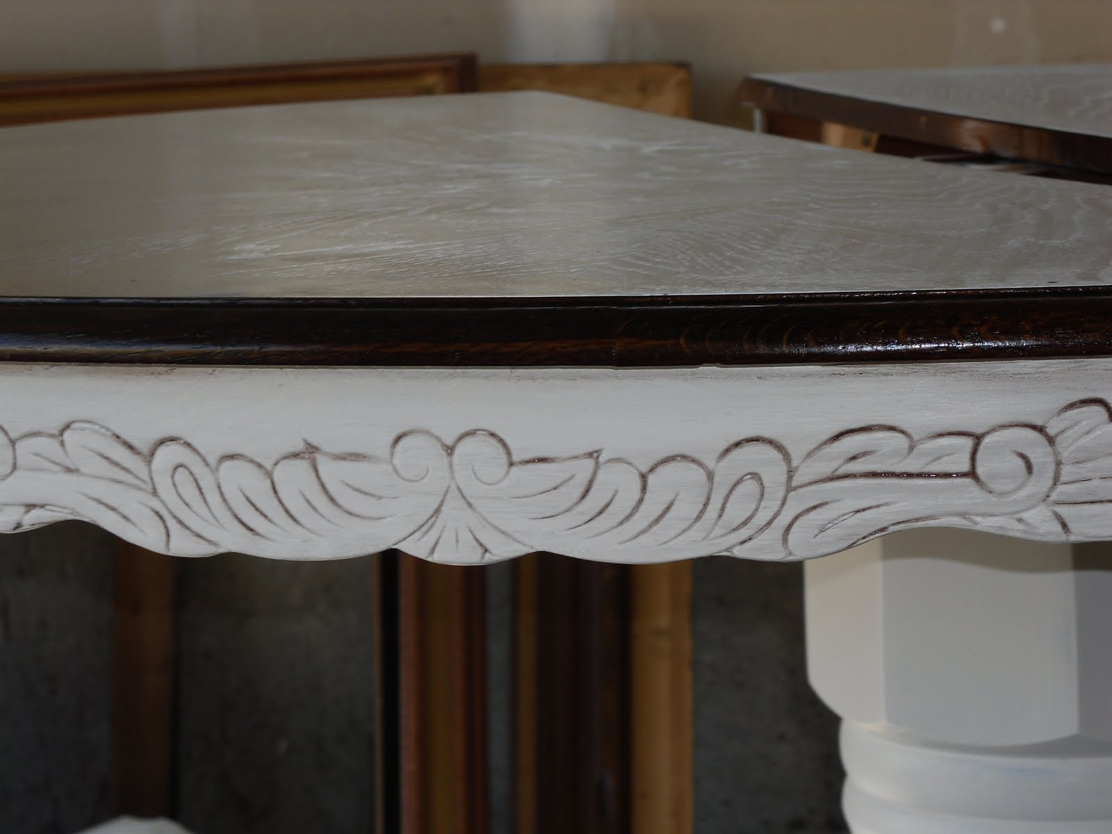 Remodelaholic | Re-stained and Painted White: Oak Pedestal ...
