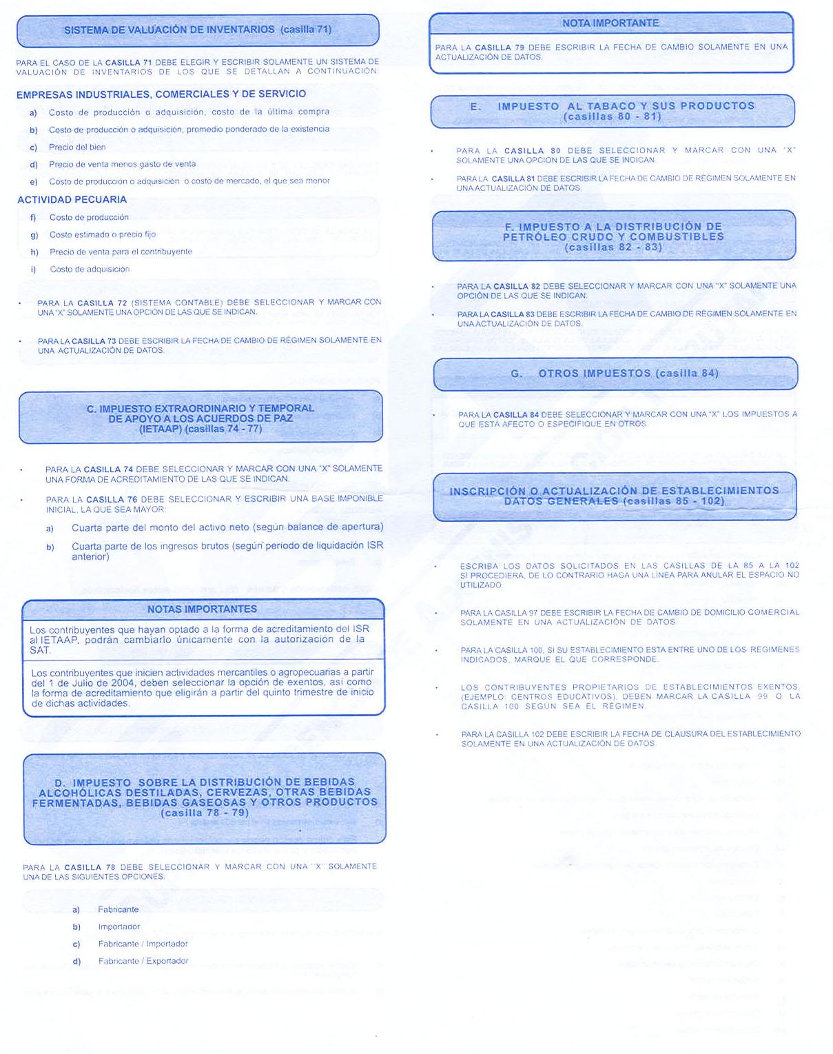 formulario sat no 0014