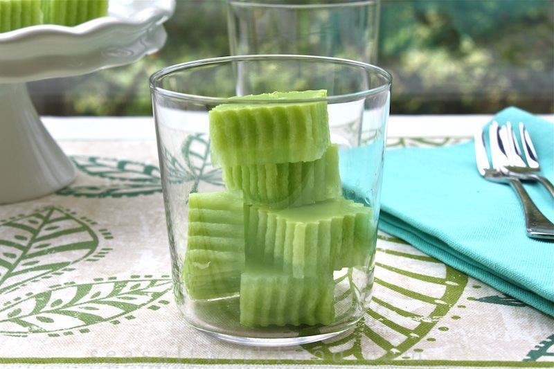 Pandan Cake Jelly Recipe: Seasaltwithfood: Pandan Jelly
