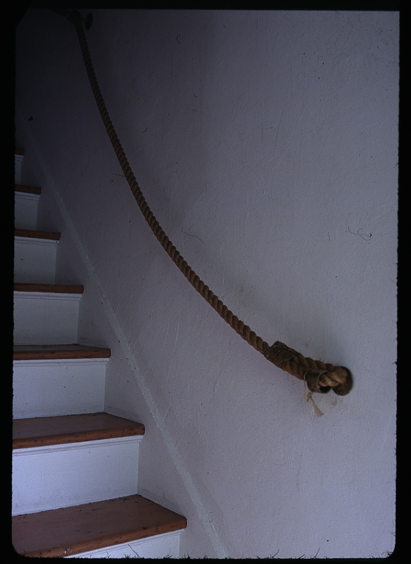 The Perfect Thing: rope stair rail