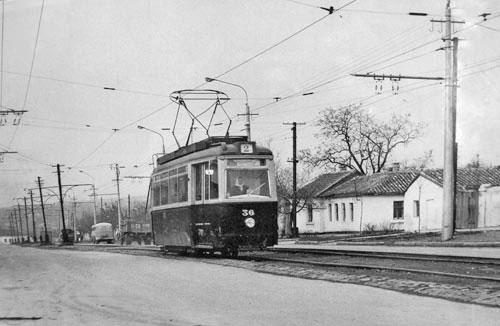 Трамвай в Симферополе, улица Лермонтова