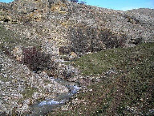 Речка Малый Салгир в районе села Дружное