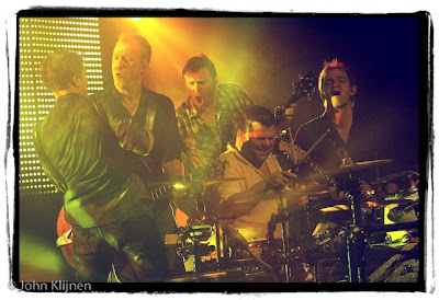 Rowwen Heze live tijdens het slotconcert in America, 8-11-2008