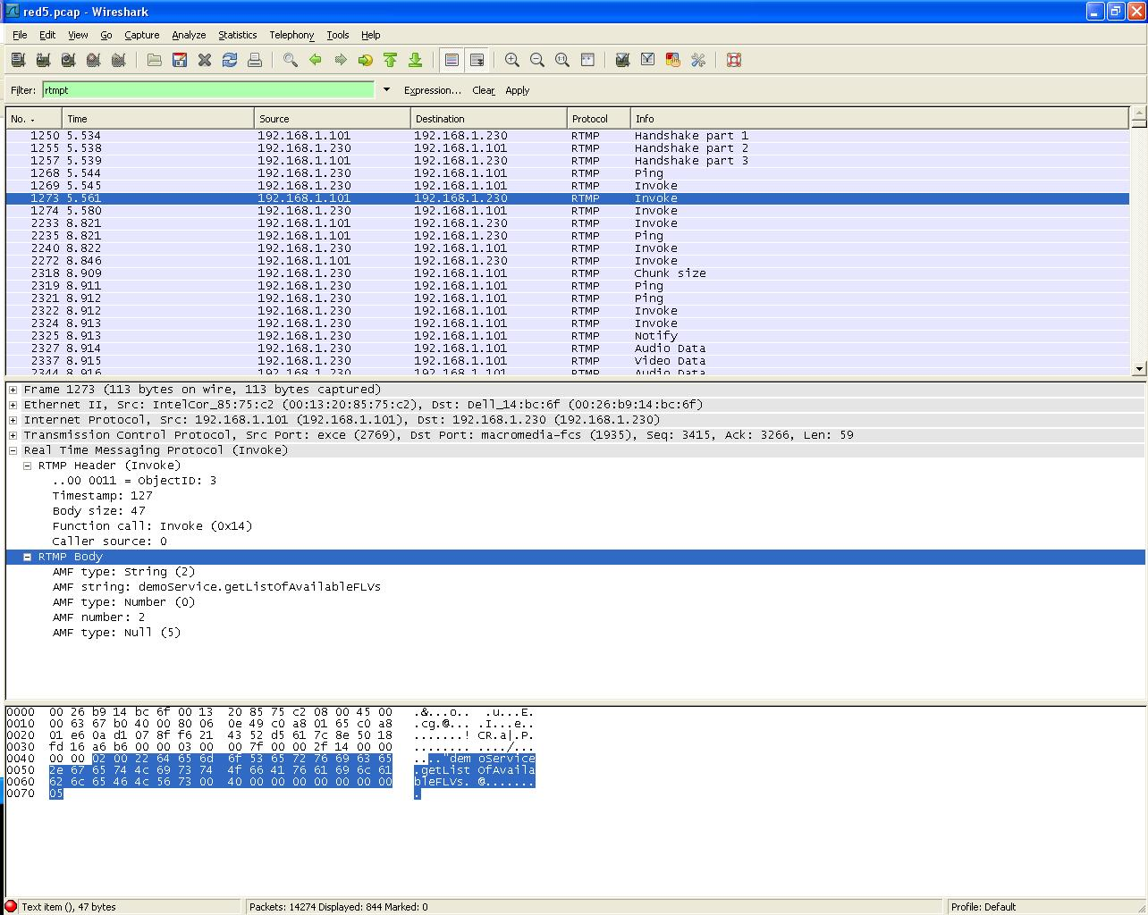 Thompson's Technological Insight: RTMP Part 8 - Packets Examples