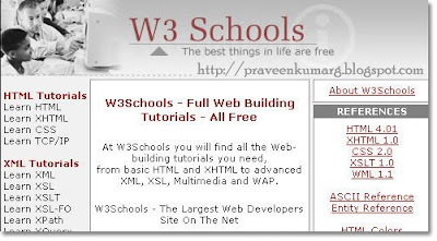 Complete Collection Of w3schools Tutorials