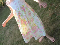 Shirred summer dress for my daughter