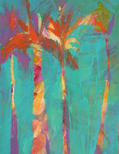 Amy Whitehouse Paintings Maui Palms Acrylic Landscape By