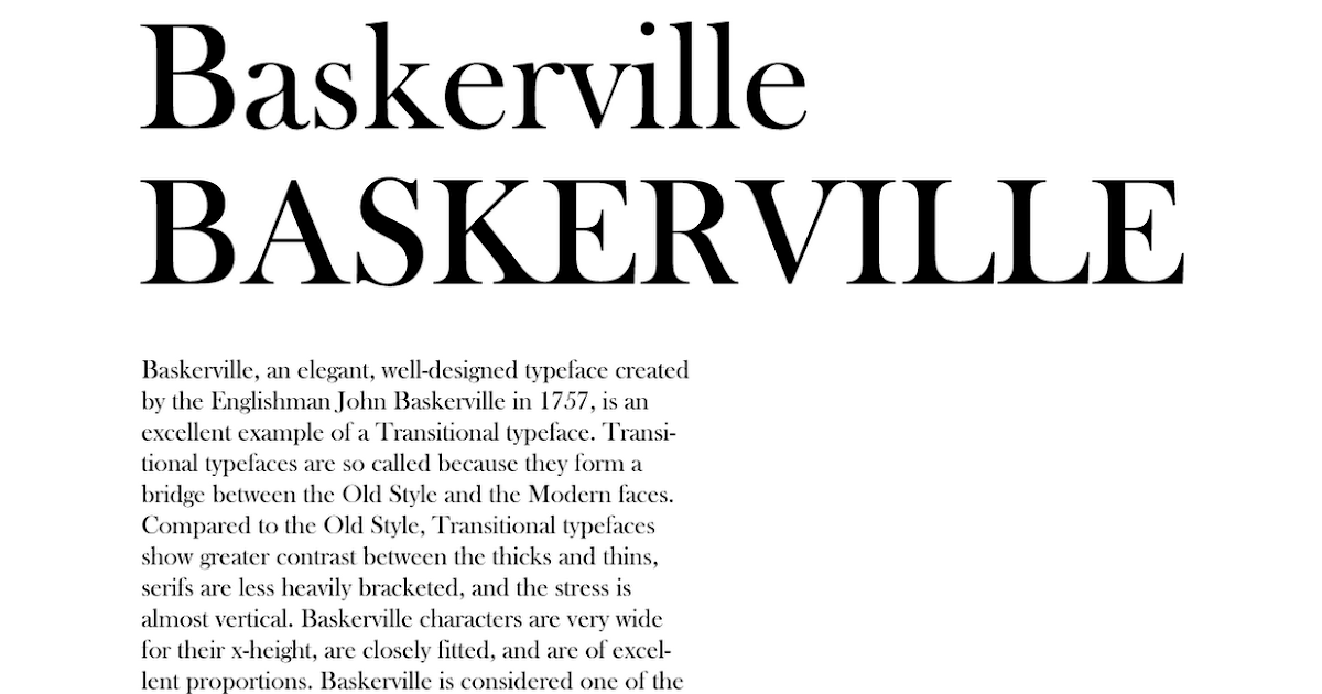 typo baskerville