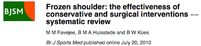 Physio Questions Frozen Shoulder Adhesive Capsulitis