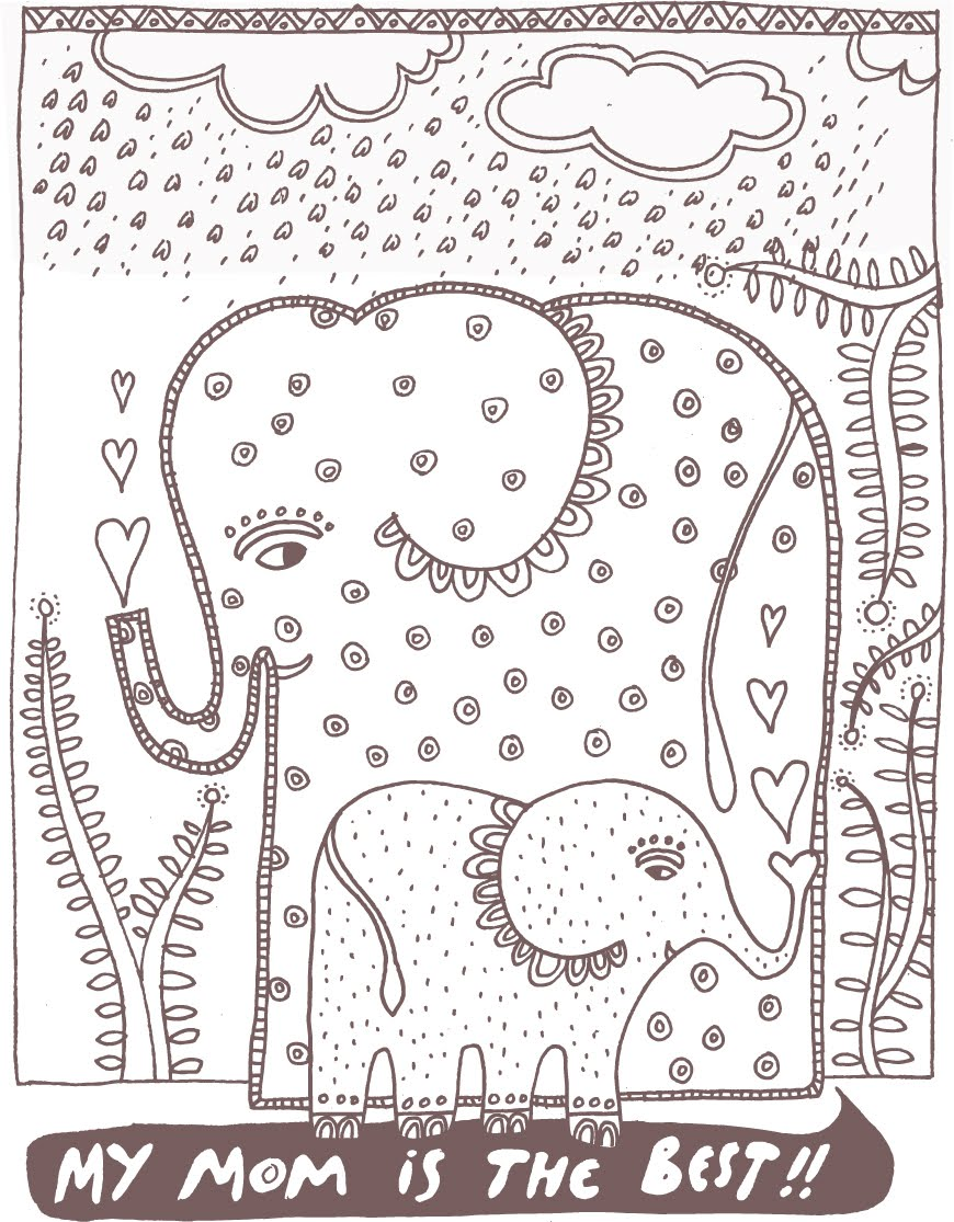 wee gallery mother's day coloring page