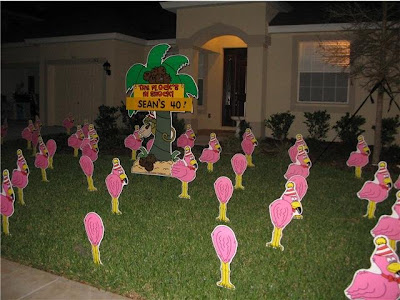 BIRTHDAY YARD FLOCKING DECORATIONS TAMPA FL CALL TODAY 813 777