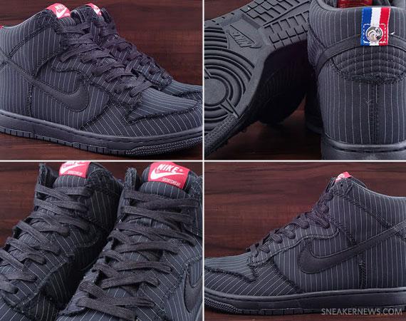outlet store 9fa54 f9bc3 TRS Blog: Nike Dunk High Supreme – Black – Sail – Pinstripe ...