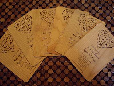 Unique Wood Wedding Invitations