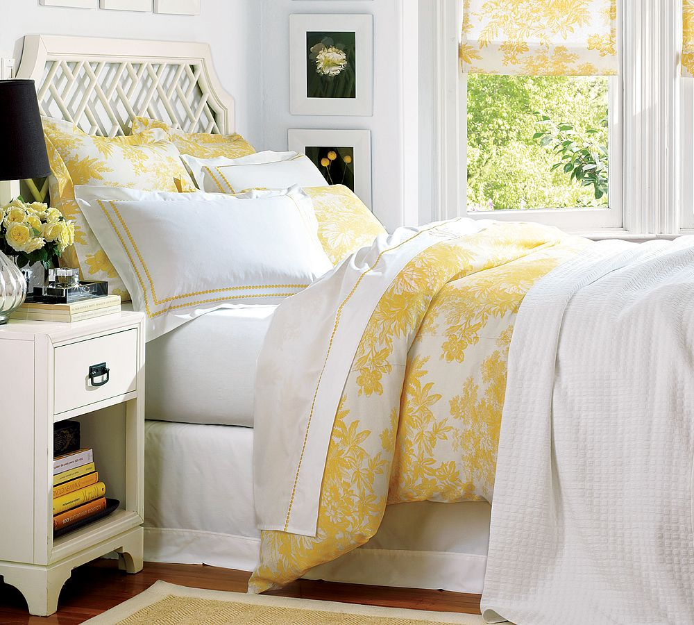 Unique Blue and Yellow Abstract Decorative Pattern four Piece Printed ... - Yellow Bed Sets