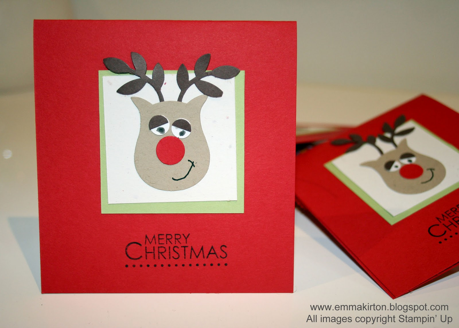 creative papercrafts  stampin' up kids christmas cards