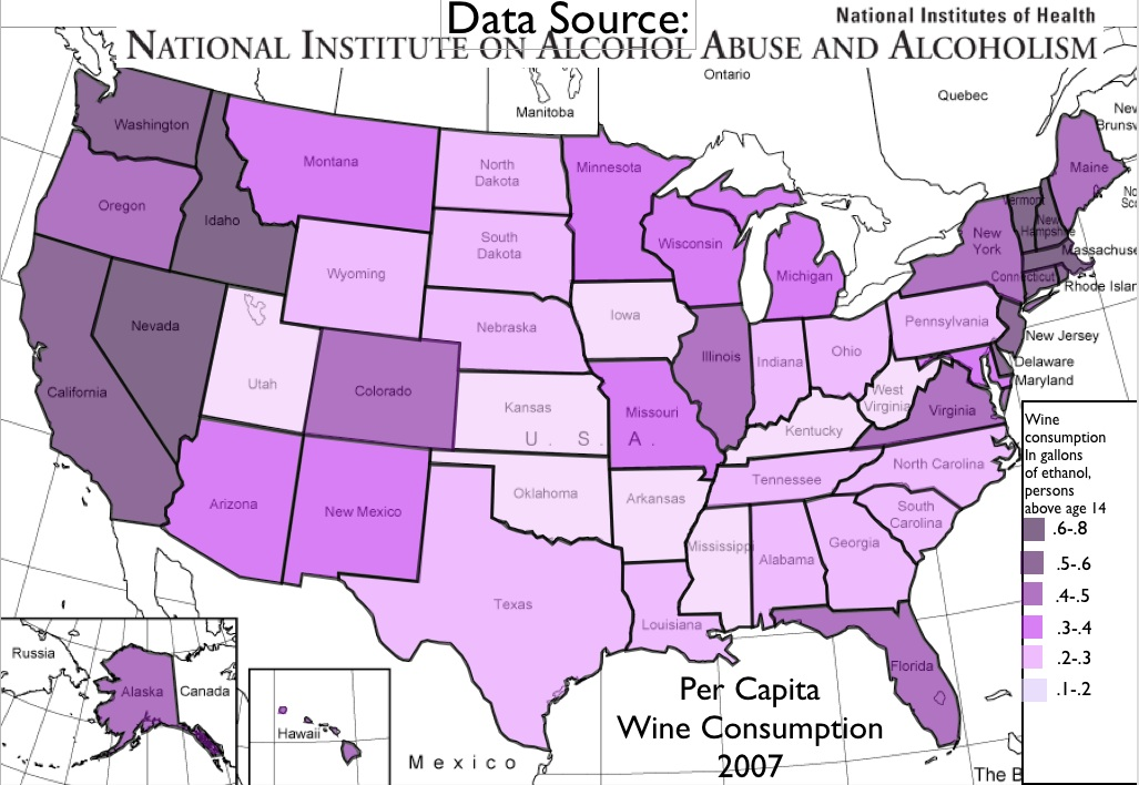 The Regional Convergence of Wine Drinking in the United ... on united states regional stereotypes, united states government, united states of shame, georgia alcohol, united states fun fact,