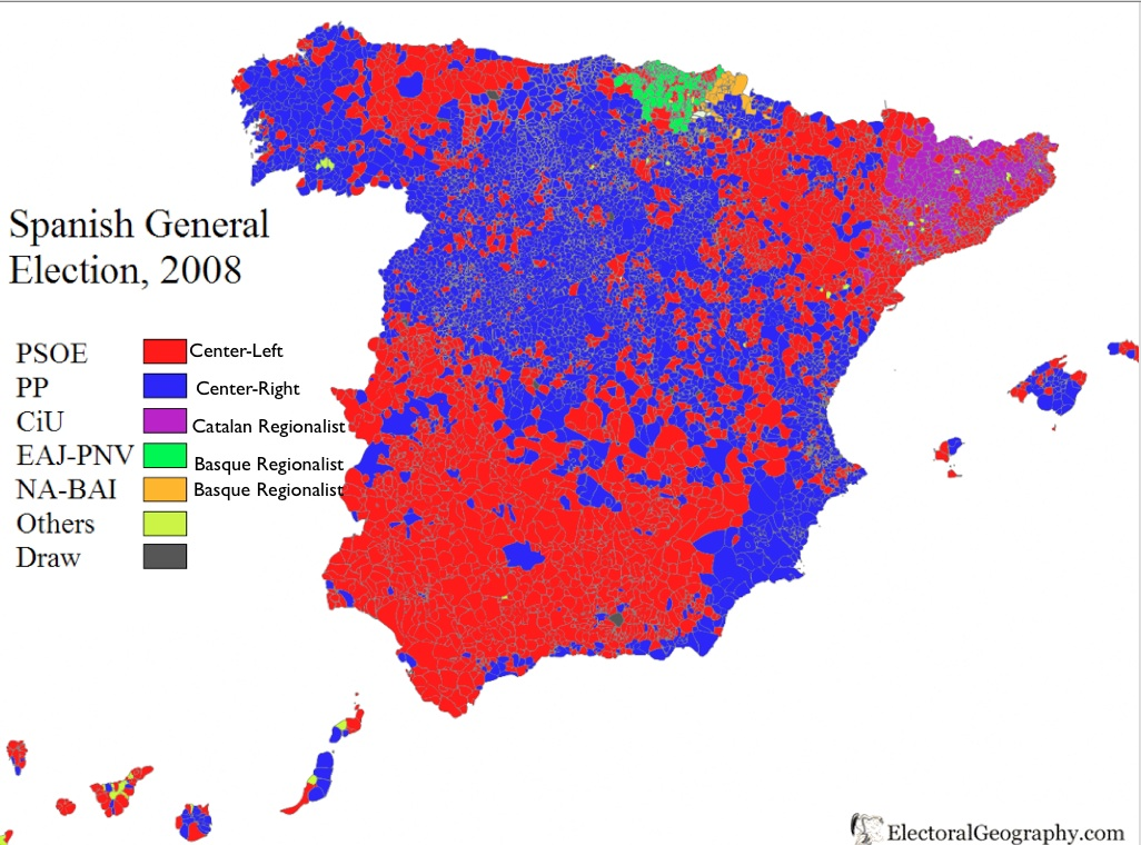 Catalan Map Of Spain.Catalonia Nationality Or Nation