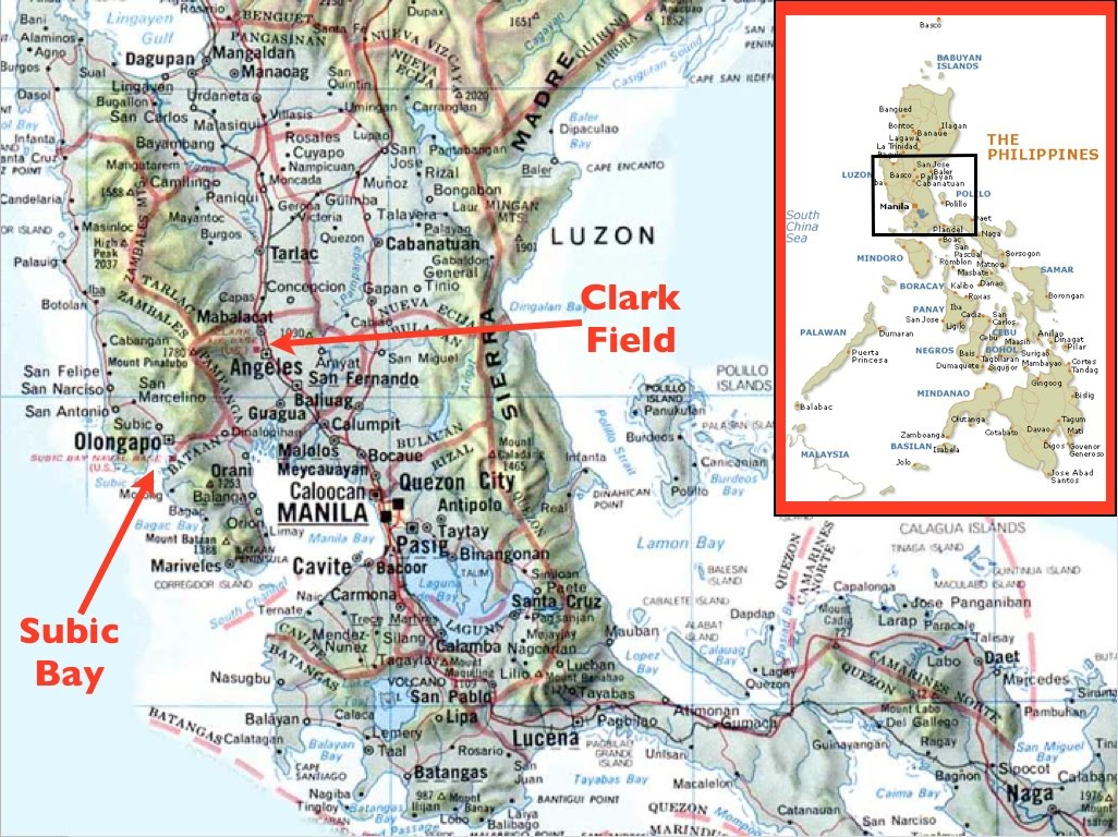 The Legacy Of Us Military Bases In The Philippines Geocurrents - Military-bases-in-the-us-map