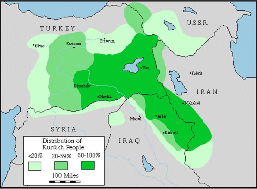 kurdistan map 2018