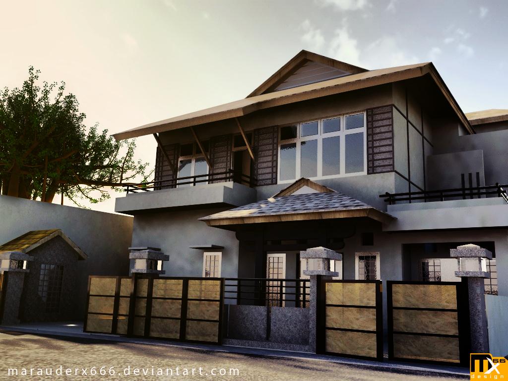 Natural design home: house exterior design