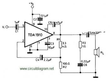 HUZOonline: 10W Audio Amplifier circuit based on TDA1910