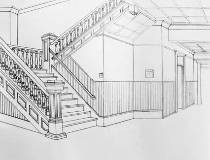 Drawing ii talbot two point perspective - Two point perspective living room ...