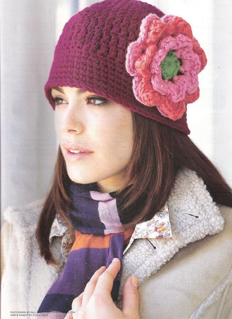 Un poquito de todo patron gorro crochet for Imagenes de gorros de lana