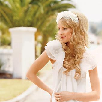 something pink girls wedding hair