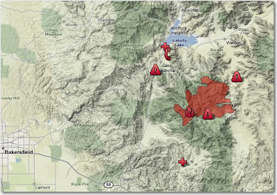 Lake Isabella Fire Map.Piute Fire Archives Wildfire Today
