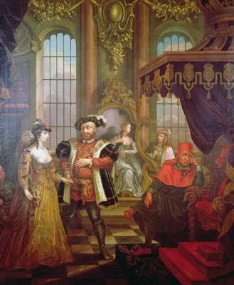 Anne & Henry's Marriage, See Poor Wolsey on the right, he is traumatized!