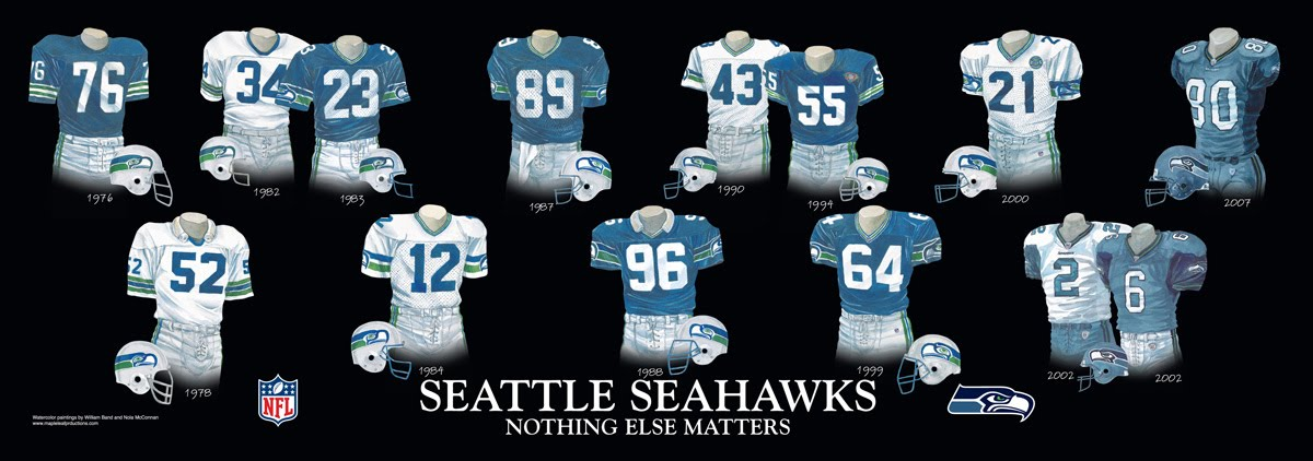 save off cea95 7612c Seattle Seahawks Uniform and Team History | Heritage ...