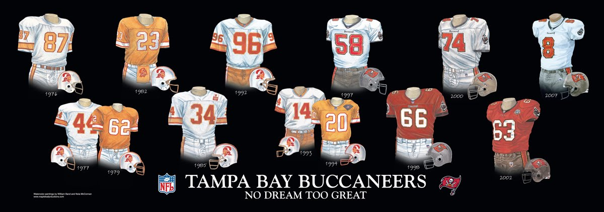 Heritage Uniforms And Jerseys Nfl Mlb Nhl Nba Ncaa Us Colleges Tampa Bay Buccaneers Uniform And Team History