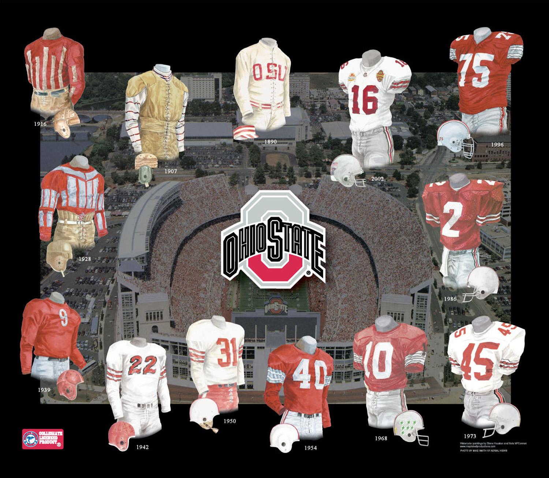 wholesale dealer fd54e b57f5 Ohio State University Buckeyes Football Uniform and Team ...