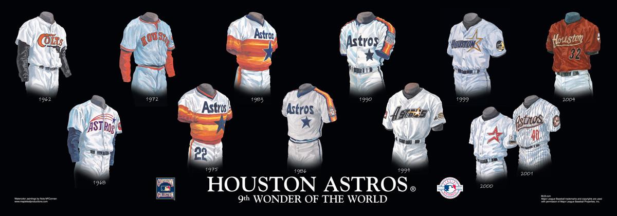 new style 5e638 ea515 Houston Astros Uniform and Team History | Heritage Uniforms ...